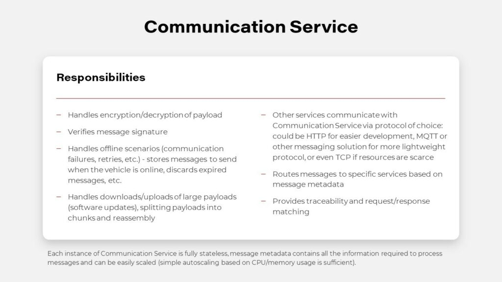 Connected Car Architecture - Communication Service